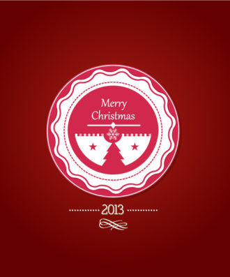Christmas Vector Illustration With Christmas Badge Vector Illustrations vector
