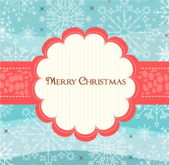 Vector Winter Frame With Snowflakes Vector Illustrations vector