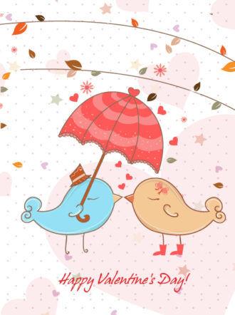 Vector Birds In Love Vector Illustrations star