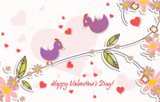 Vector Birds In Love Vector Illustrations vector