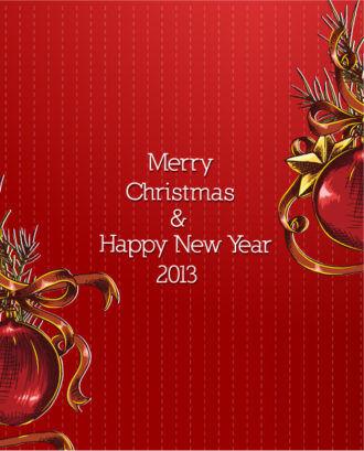 Christmas Vector Illustration With  Christmas Globe Vector Illustrations vector