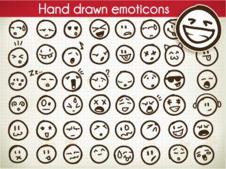 Set Of Vector Emoticons Scenes ball