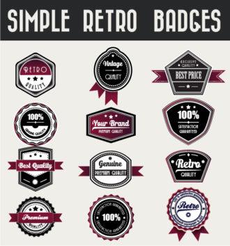 Set Of Vector Badges Scenes ball