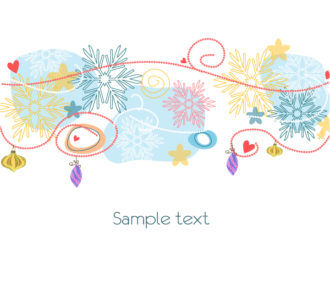 Vector Christmas Background With Snowflakes Vector Illustrations ball