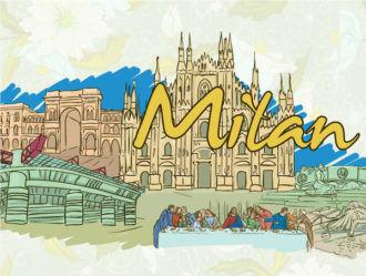 Milan Doodles Vector Illustration Vector Illustrations building
