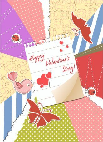 Valentine's Day Background Vector Illustration Vector Illustrations vector