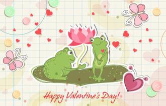 Frogs In Love Vector Illustration Vector Illustrations vector