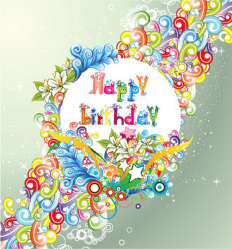 Vector Happy Birthday Illustration Vector Illustrations star