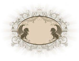 Vintage Emblem Vector Illustration Vector Illustrations floral