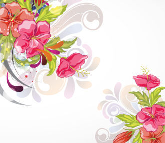 Vector Abstract Background With Colorful Floral Vector Illustrations floral