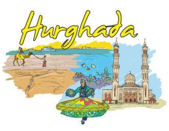 Hurghada Doodles Vector Illustration Vector Illustrations sea