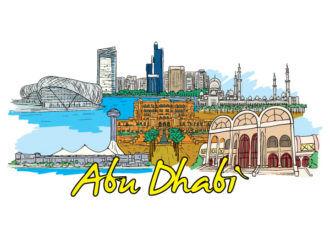 Abu Dhabi Doodles Vector Illustration Vector Illustrations palm