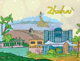 Zhuhai Doodles Vector Illustration Vector Illustrations palm