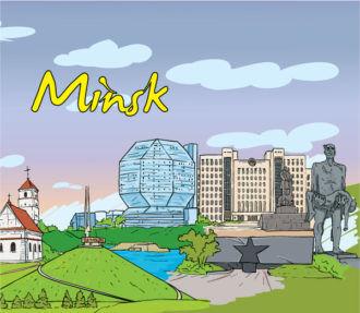 Minsk Doodles Vector Illustration Vector Illustrations tree