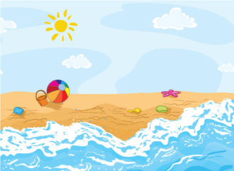 Cartoon Background Vector Illustration Vector Illustrations sea