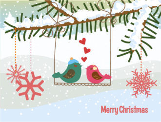 Vector Christmas Greeting Card Vector Illustrations leaf