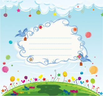 Vector Abstract Background With Birds Vector Illustrations floral