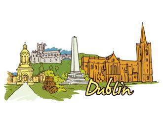 Dublin Doodles Vector Illustration Vector Illustrations building