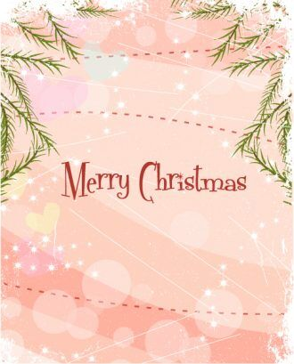 Vector Winter Background With Circles Vector Illustrations vector