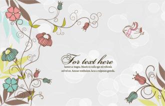 Floral Background Vector Illustration Vector Illustrations floral