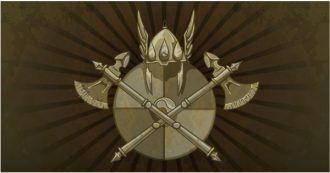 Vintage Shield On A Grunge Background Vector Illustrations old