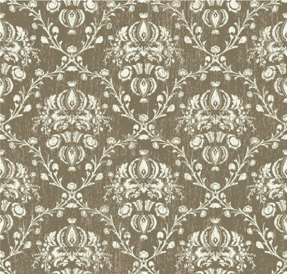 Vintage Damask Background Vector Illustration Vector Illustrations old