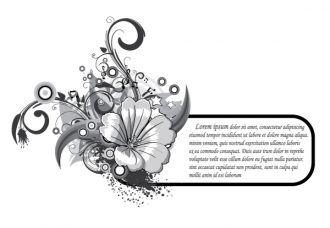 Grunge Floral Frame Vector Illustration Vector Illustrations star