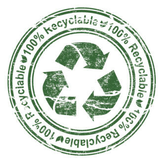 Vector Grunge Stamp With Recycle Sign Vector Illustrations old