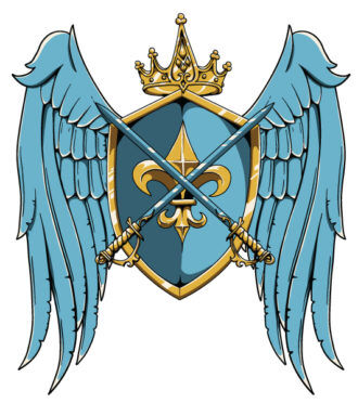 Vector Vintage Crest With Wings Vector Illustrations old
