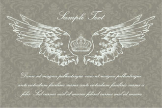 Vector Vintage Background With Wings Vector Illustrations old