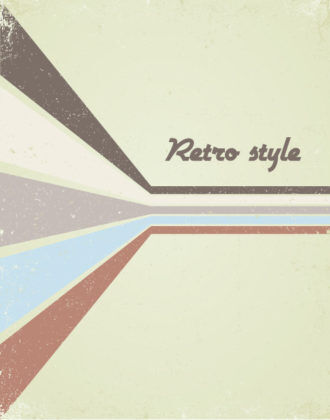 Vector Retro Poster With Wave Vector Illustrations wave