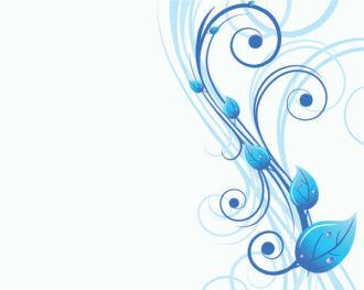 Vector Blue Floral Illustration Vector Illustrations floral