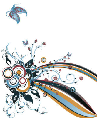 Abstract Floral Background Vector Illustration Vector Illustrations wave