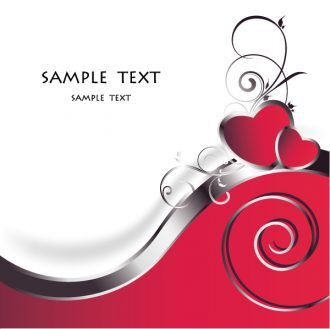 Vector Valentine Background With Hearts Vector Illustrations vector