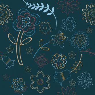 Seamless Floral Background Vector Illustration Vector Illustrations floral