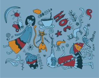 Funny Doodles Vector Illustration Vector Illustrations vector