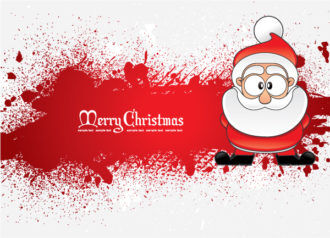 Santa With Grunge Vector Illustrations vector