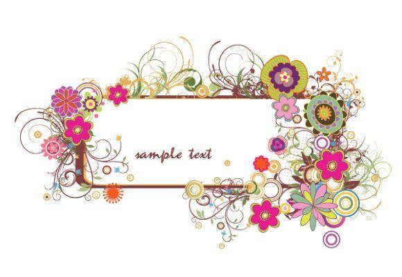 Floral Frame Vector Illustrations floral