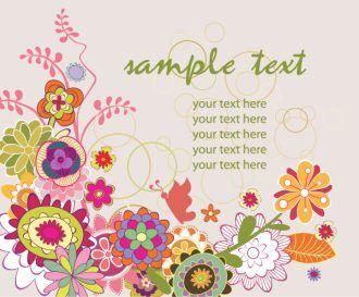 Floral Background Vector Illustrations floral
