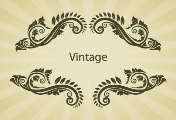 Illustration Of Vintage Floral Frame Vector Vector Illustrations old