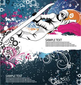 Vector Snowboarder Vector Illustrations wave