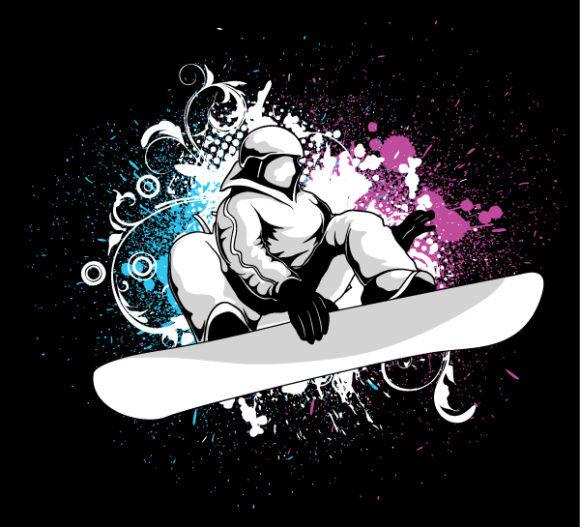 Vector Snowboarder Vector Illustrations old