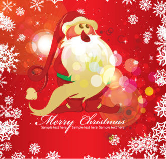 Vector Colorful Christmas Greeting Card Vector Illustrations vector