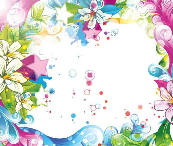 Colorful Floral Background Vector Illustration Vector Illustrations star