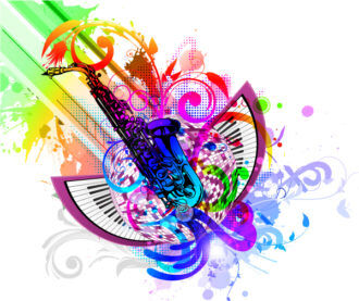 Colorful Concert Poster Vector Illustration Vector Illustrations old