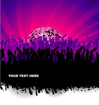 Vector Music Illustration With Crowd Vector Illustrations vector