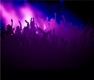 Vector Concert Poster With Crowd Vector Illustrations vector
