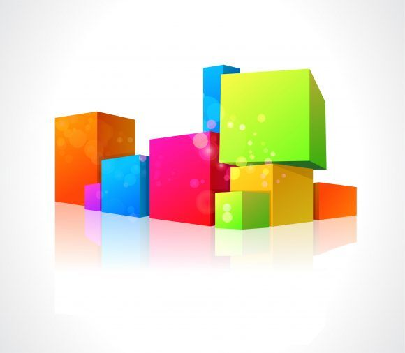 Vector Abstract Illustration With Colorful Boxes Vector Illustrations vector