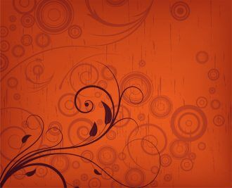 Vector Floral With Grunge Background Vector Illustrations old