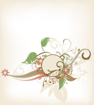 Retro Floral Frame Vector Illustration Vector Illustrations floral